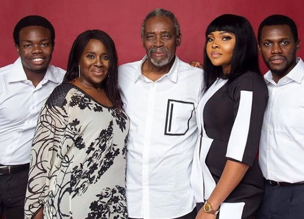 Olu Jacobs and Family